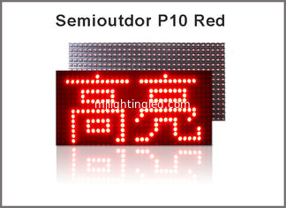 China Platte P10 Semioutdoor LED BAD ROTES LED Modul der Pixel 32*16 P10 LED Module 320*160mm fournisseur