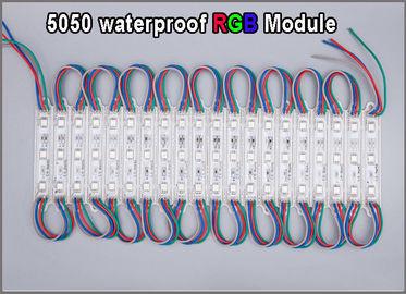 Modul RGB LED der hohen Qualität 5050 Mehrfarben-moduels imprägniern Werbung im Freien Leuchtzeichenbeleuchtung