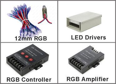 Pixel 5V 12mm RGB LED ohne ICs flexible LED Werbeschilder der Schnur-Pixel 50pcs/string 0.3W DC5V IP67 im Freien