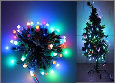 Parteilicht 50PCS 1903IC RGB 12mm 5V farbenreiche LED Pixel-digitale zugängliche Ketten-Weihnachtsbaumdekoration